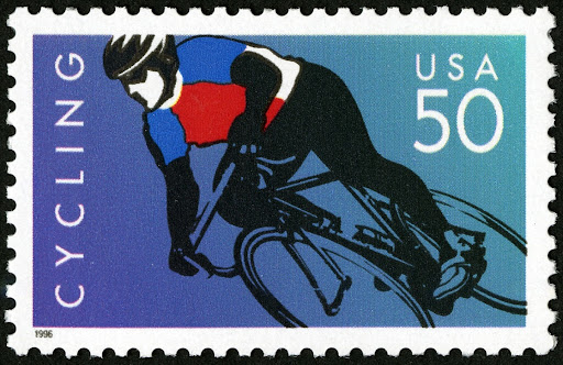 50c Cycling stamp