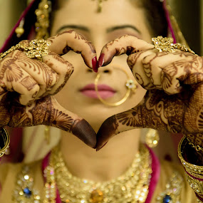 Two Hearts become One by Shrey Chohan - Wedding Bride ( love, wedding, candid, bride, photography )