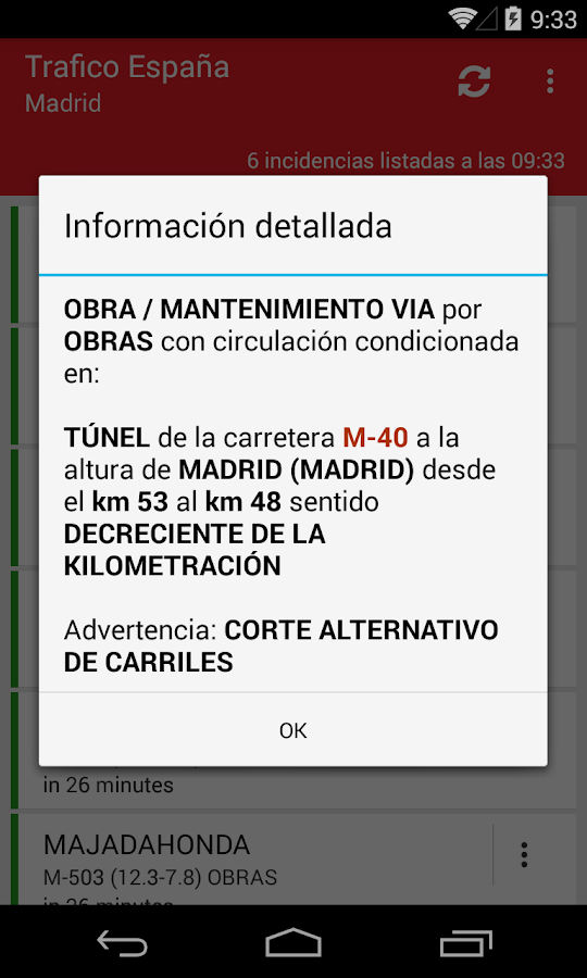 Trafico España - screenshot