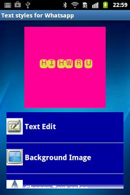 Text art for Whatsapp - screenshot