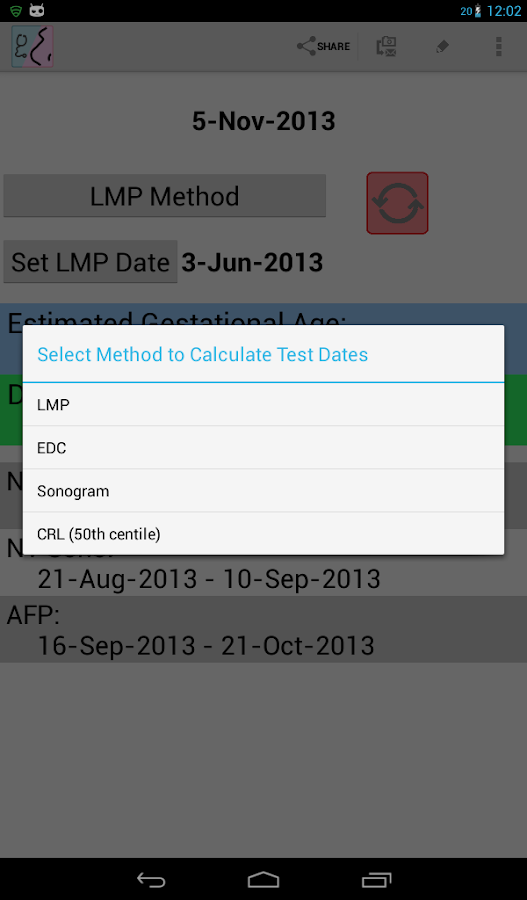 OB Calc Pro (Obstetrician) - screenshot