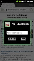Screenshot of Dolphin Youtube Search