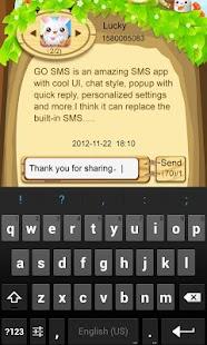GO SMS Pro Cute Easter Pop thx - screenshot thumbnail