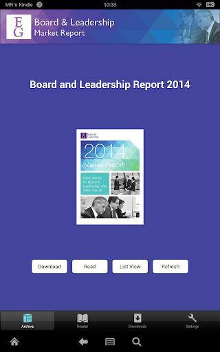 EG Board Leadership Report