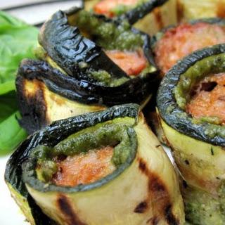 Zucchini Pesto Roll Ups