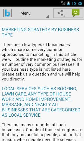 Marketing Plan & Strategy Screenshot