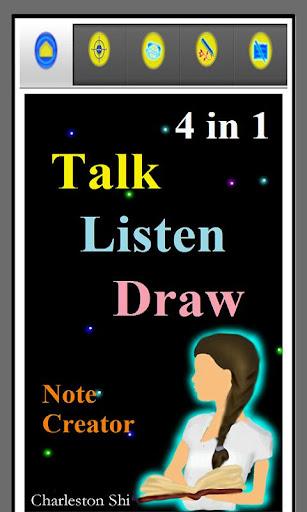 4 in 1 Talk Listen Draw Notes