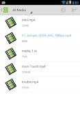Screenshot of DicePlayer plugin for tegra2