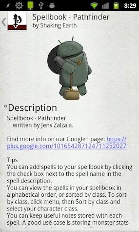 Spellbook - Pathfinder Screenshot