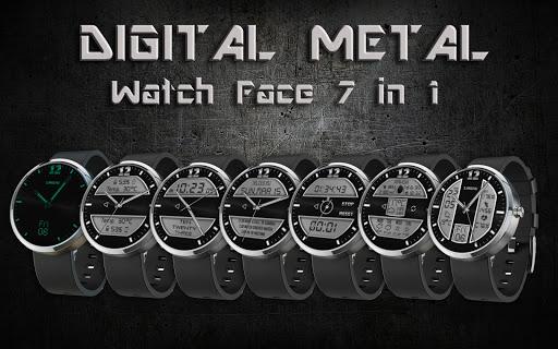 Digital Metal 7 in 1 Wear Face