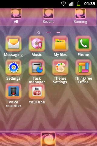 GO Launcher EX Theme Zebra- screenshot