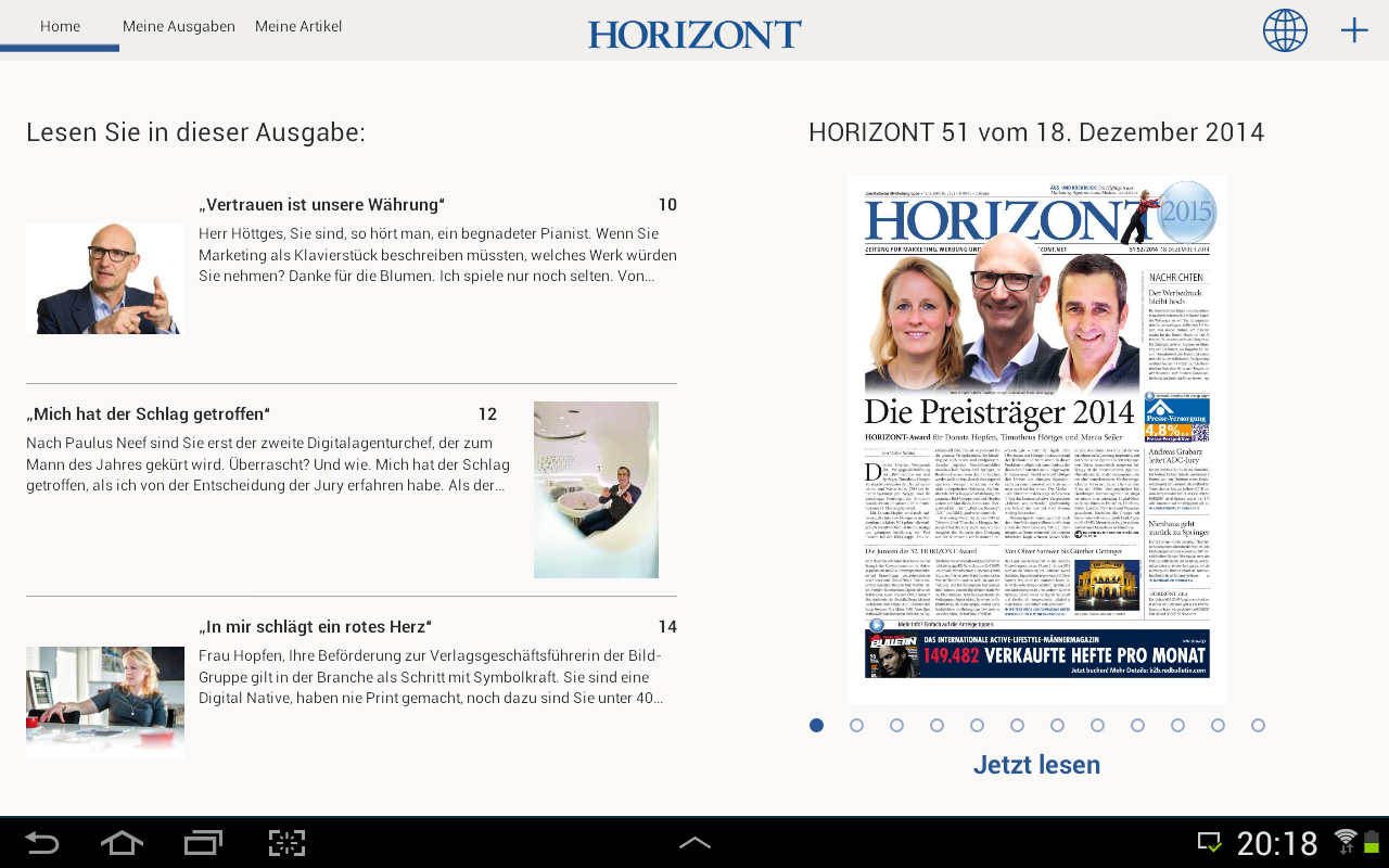 HORIZONT E-Paper- screenshot