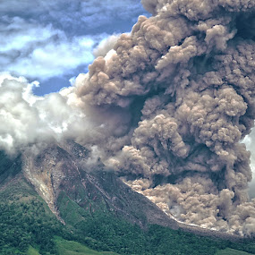 Volcano by Kriswanto Ginting's - Landscapes Mountains & Hills ( volcano, mount, 2013, indonesia,  )