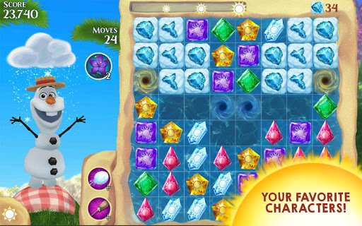 ���� Frozen Free Fall v2.3.1 (Infinite Boosters/Lives/Tokens) ������� ���������