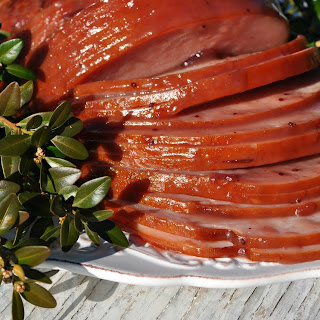 Slow Cooker Cranberry Raspberry Glazed Ham