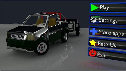 3D汽车与拖车停车场