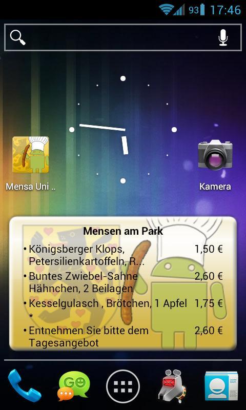 Mensa Weimar- screenshot