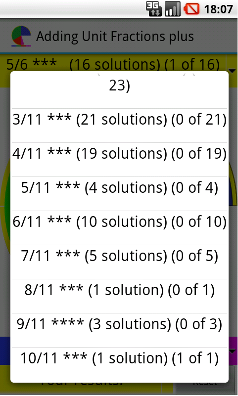Adding unit fractions +- screenshot
