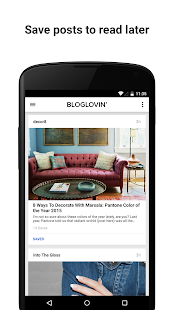 Bloglovin'- screenshot thumbnail