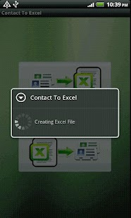 Contact To Excel - screenshot thumbnail