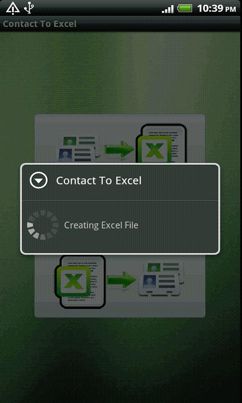 Contact To Excel - screenshot