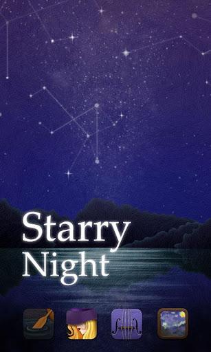 Starry Night GO Launcher Theme