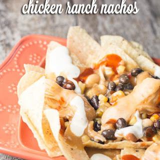 Crock Pot Chicken Ranch Nachos.