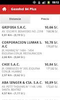 Screenshot of Precio Combustibles Perú