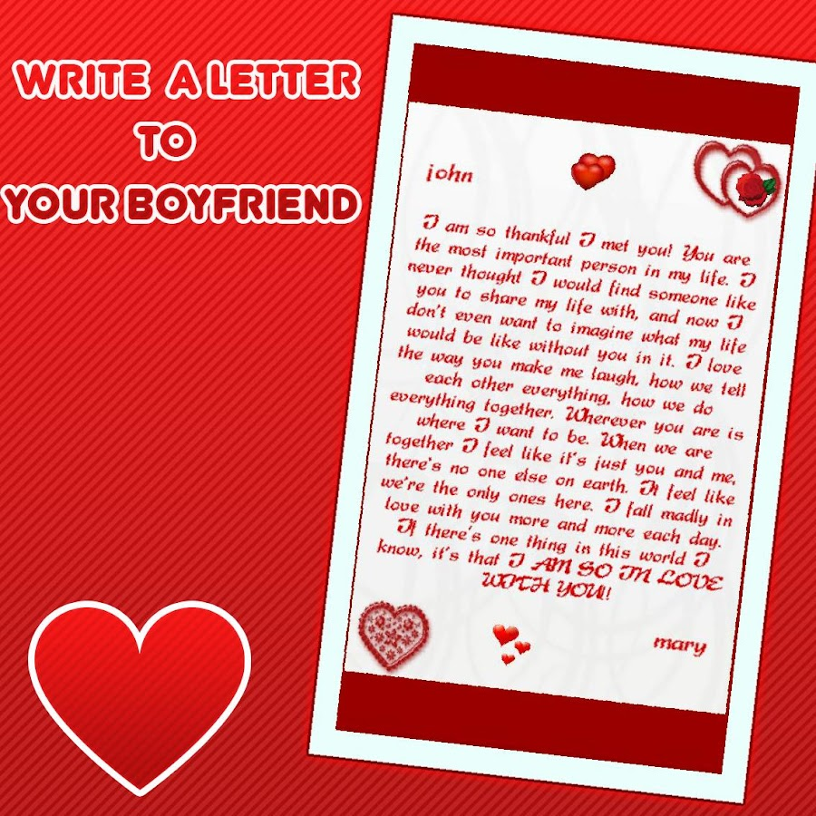 romantic love letters screenshot
