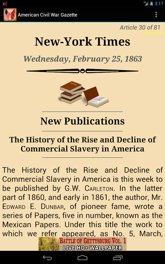 1863 Feb Am Civil War Gazette - screenshot