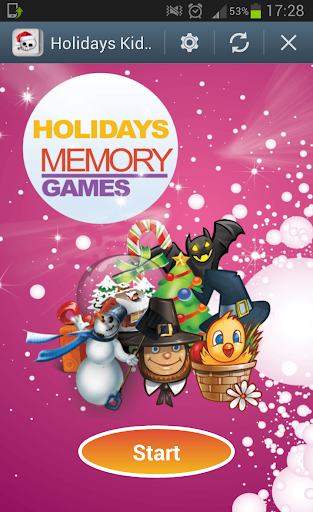Holidays kids memory games