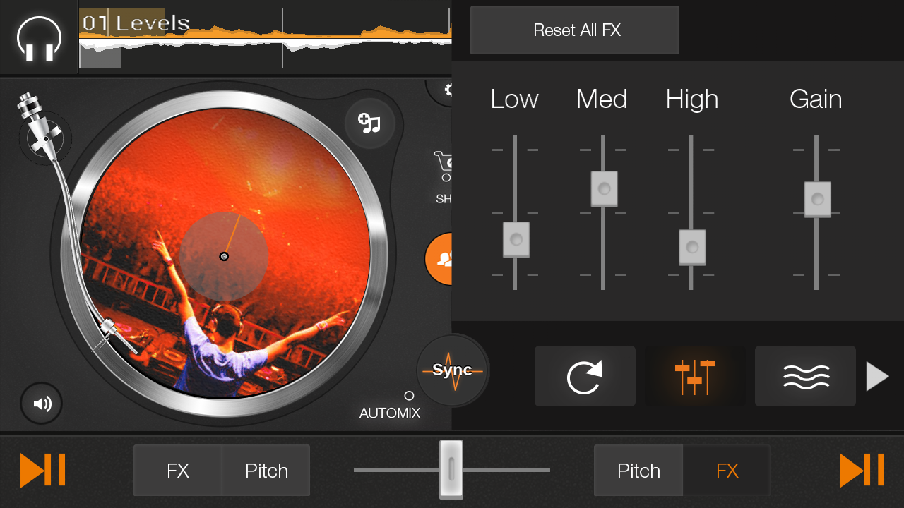 edjing DJ free mp3 music mixer - screenshot