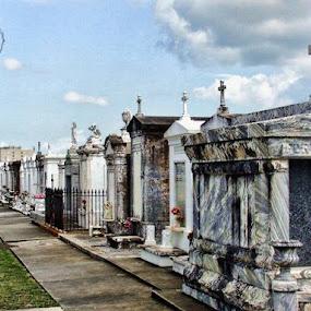by Dorothy Valine Gram - City,  Street & Park  Cemeteries ( new orleans, la, us )