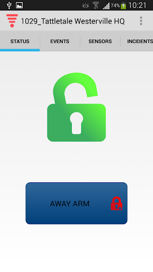Tattletale Security screenshot for Android