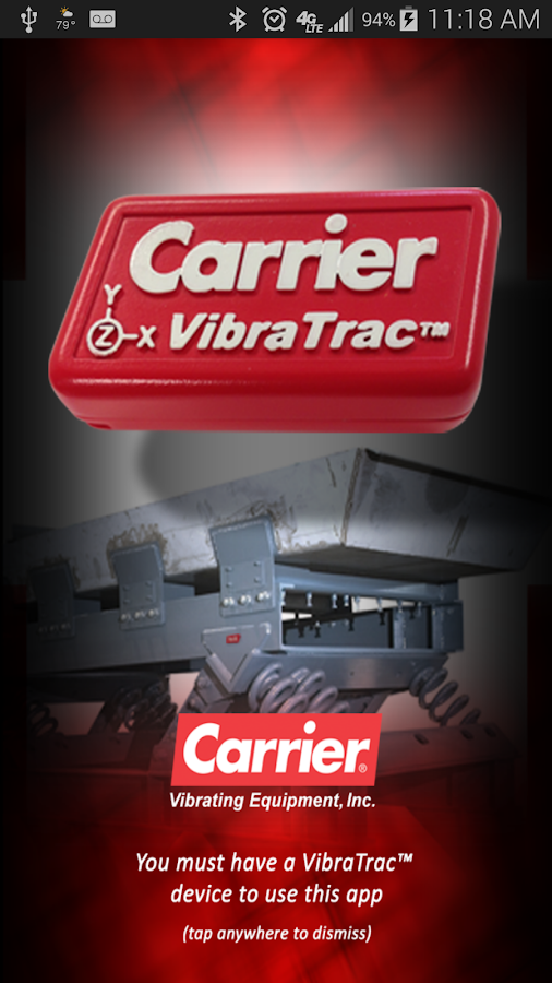 Carrier VibraTrac- screenshot