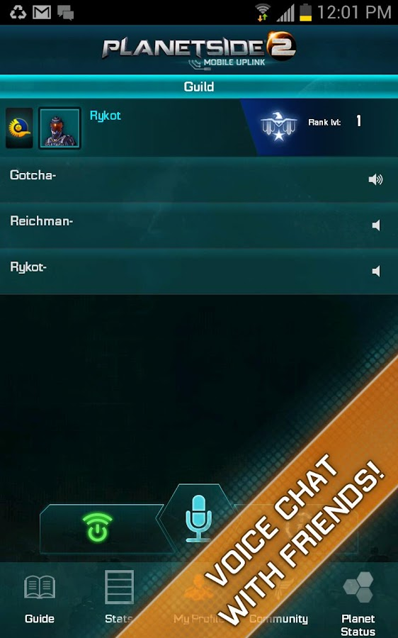 PlanetSide 2 Mobile Uplink - screenshot