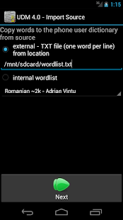 User Dictionary Manager (UDM)- screenshot thumbnail