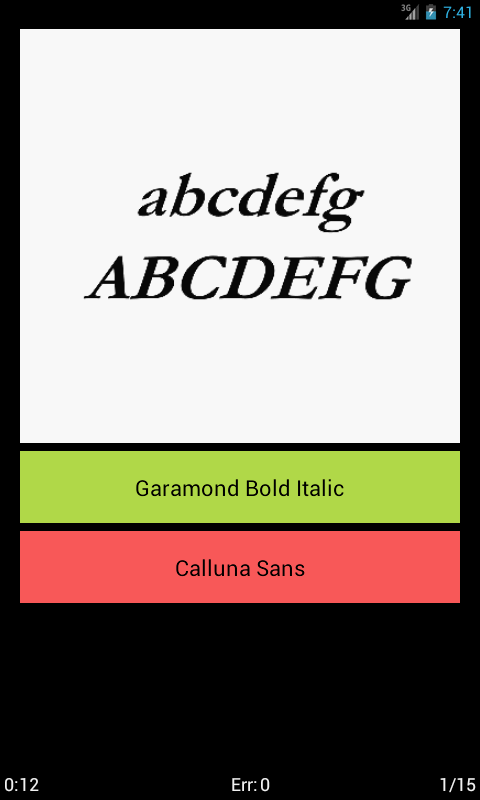 Typefaces - screenshot