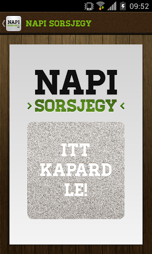 Napi Sorsjegy screenshot