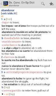Concise Oxford Spanish Dict- screenshot thumbnail
