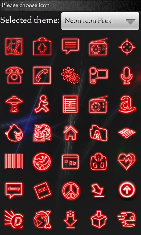 Icon Pack - Neon Icons - screenshot