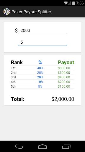 Poker Payout Splitter