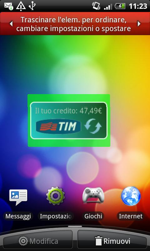 Credito TIM Widget - screenshot