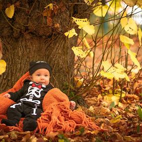 Skeleton by a Tree by Gordon Follett - Babies & Children Babies