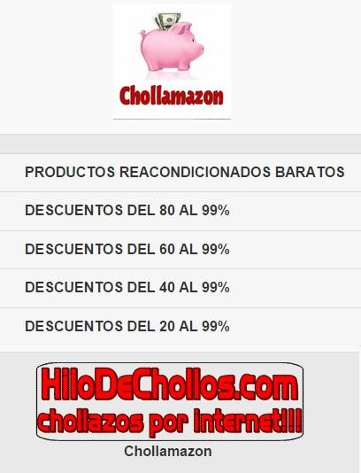 Chollamazon busca chollos FREE: captura de pantalla