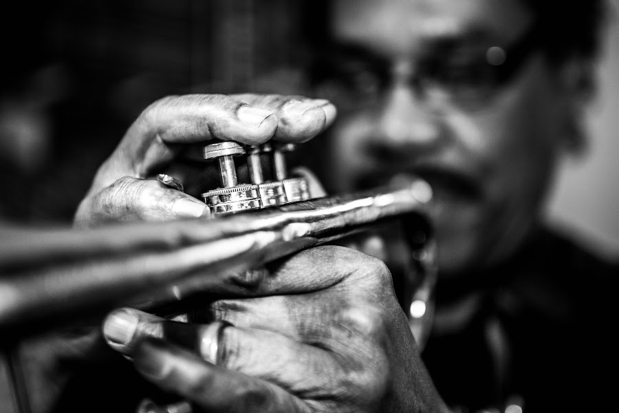 Blues by Ginnard Archibald - Black & White Portraits & People ( object, musical, instrument,  )