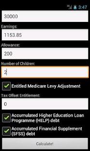 AU PAYG Withholding Calculator- screenshot thumbnail