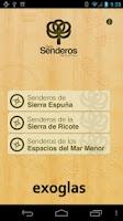 Screenshot of GeoSenderos R. de Murcia LITE