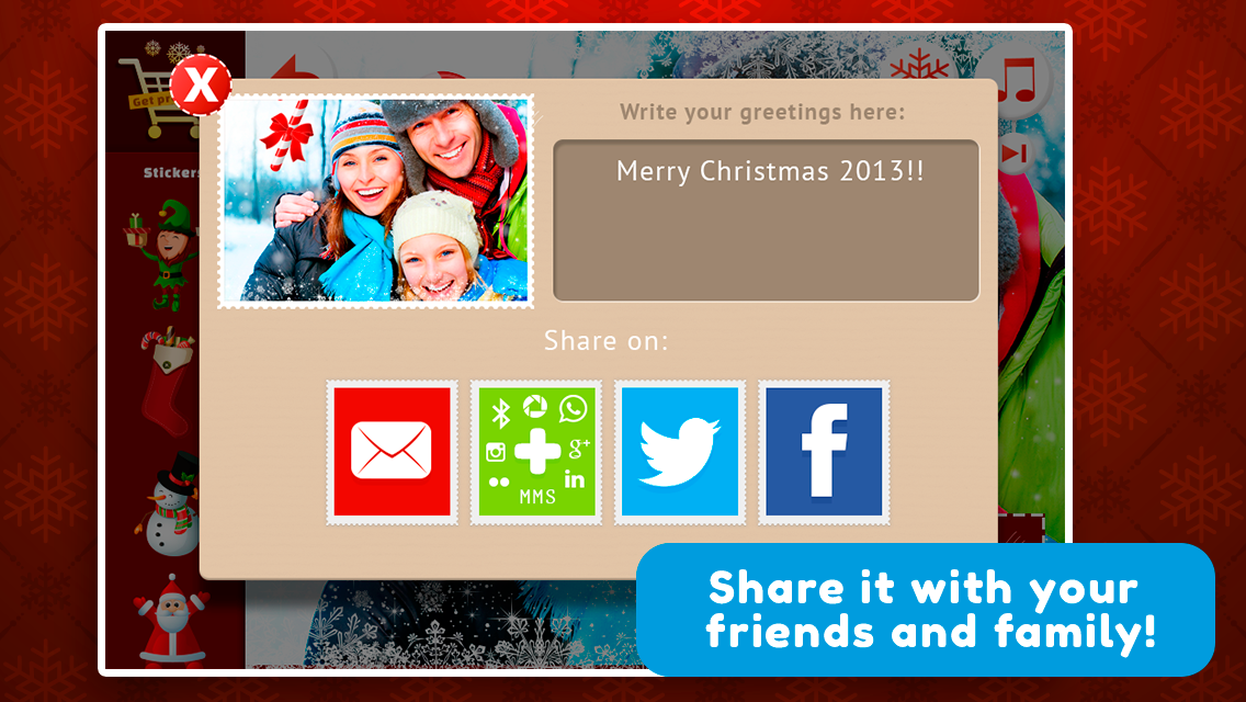 Xmas Cards for Chat - New Year- screenshot