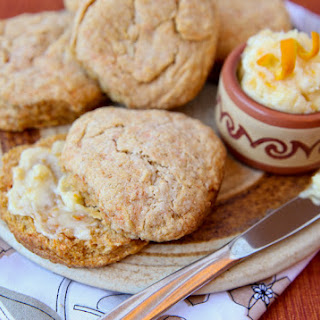 Sweet Potato Biscuits with Orange-Honey Butter